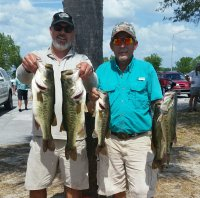 Dave Metzler and Dwayne Haga 1st place Harris Chain 18.29 lbs and B.B. 5.53 LBS